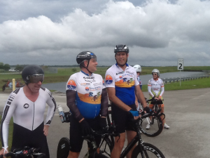 Steve Agronick, My and Randy Durkee following Airport TT #4