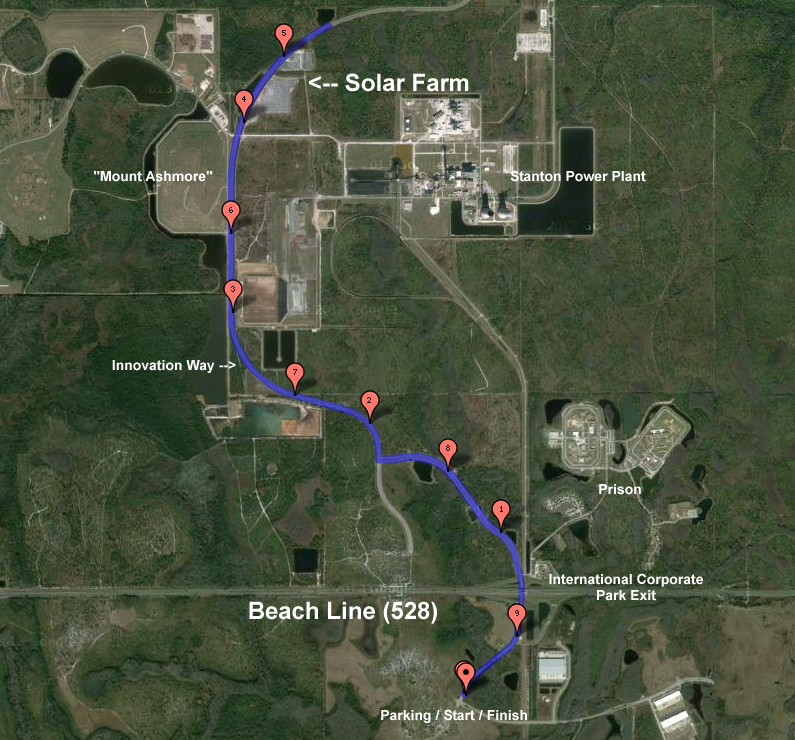 The USAC 9.5 mile Course for the ORR TT